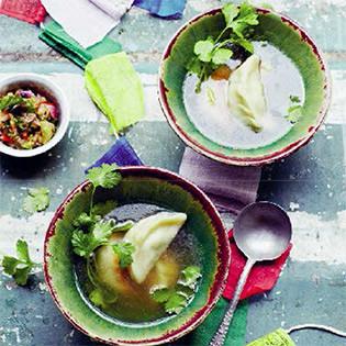 Rezept von Jackie Kearney: Tibetische Suppe mit Momos
