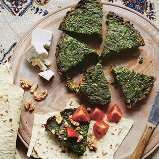 Rezept von Yasmin Khan: Kuku mit gemischten Kräutern