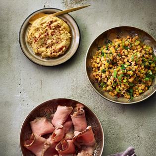 Rezept von Jacqueline Amirfallah: Kalbstafelspitz mit Sesam-Chili-Creme und Linsensalat
