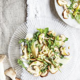 Rezept von Katie & Giancarlo Caldesi: Pilzsalat mit Sellerie und Parmesan