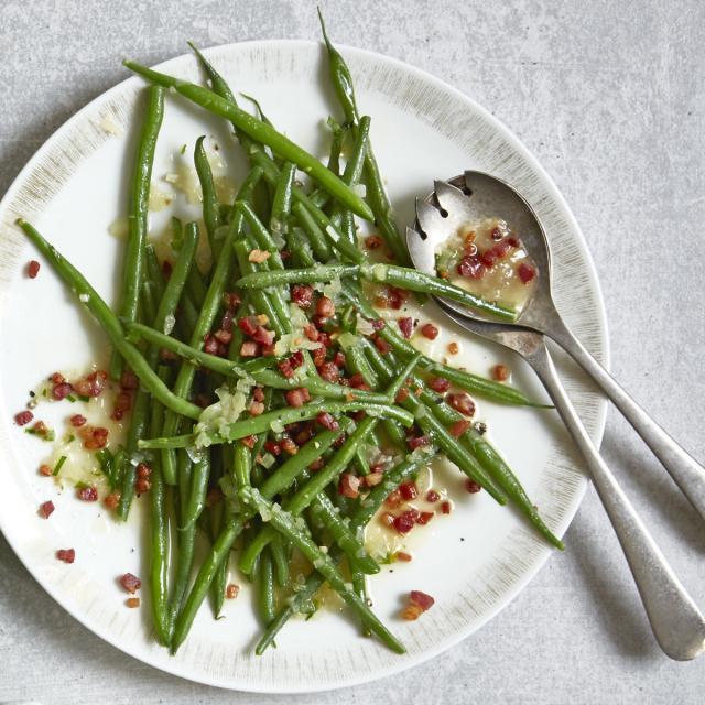 Rezept von Rose Marie Donhauser: Grüne Bohnen mit Speck-Stippe