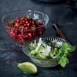 Rezept von Ghillie Başan: Granatapfelsalat mit Basilikum