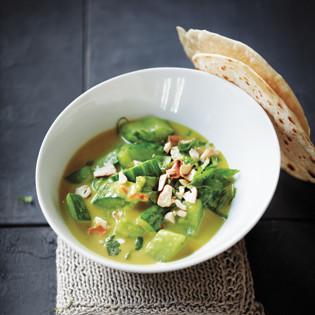 Rezept von Pascal Haag: Gurkencurry mit Chapati
