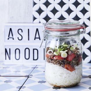 Rezept von Maja Nett: Asiatischer Glasnudelsalat mit Hackfleisch