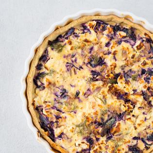Rezept von Daniel Grothues: Rotkohl-Quiche mit Senf & Feta