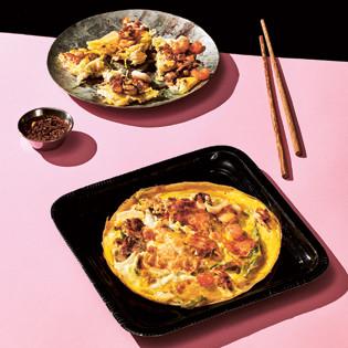Rezept von Young-Mi Park-Snowden: Meeresfrüchte-Pfannkuchen