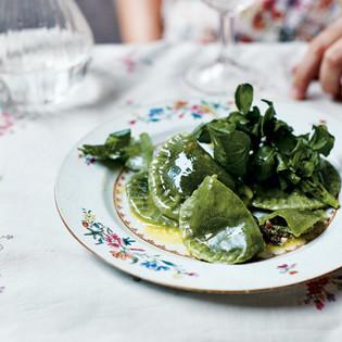 Rezept von Zuza Zak: Grüne Frühlings-Pierogi mit Spinat
