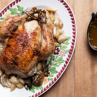 Rezept von Jenny Linford: Hähnchen mit 40 Knoblauchzehen