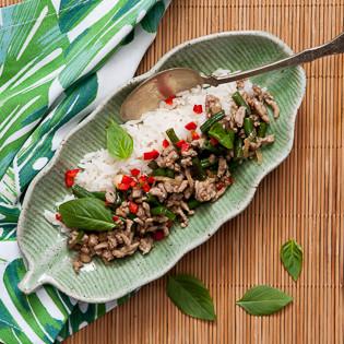 Rezept von Jenny Linford: Hähnchenhackfleisch thailändischer Art