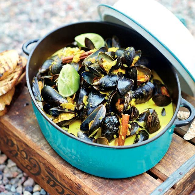 Rezept von Leila Lindholm: Muscheln in Kokos-Zimt-Sauce