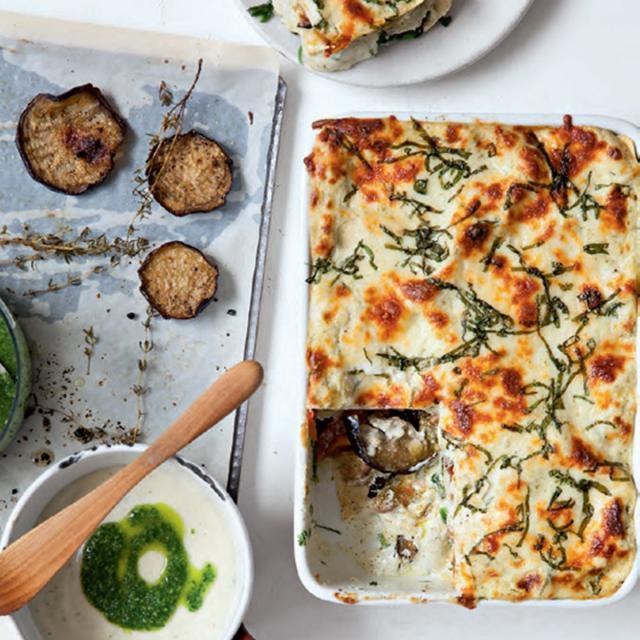 Rezept von Sandra Mahut: Lasagne mit Auberginen, Pesto & Mozzarella