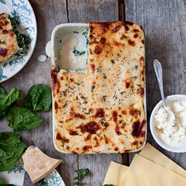 Rezept von Sandra Mahut: Lasagne mit Ricotta, Spinat & Parmesan