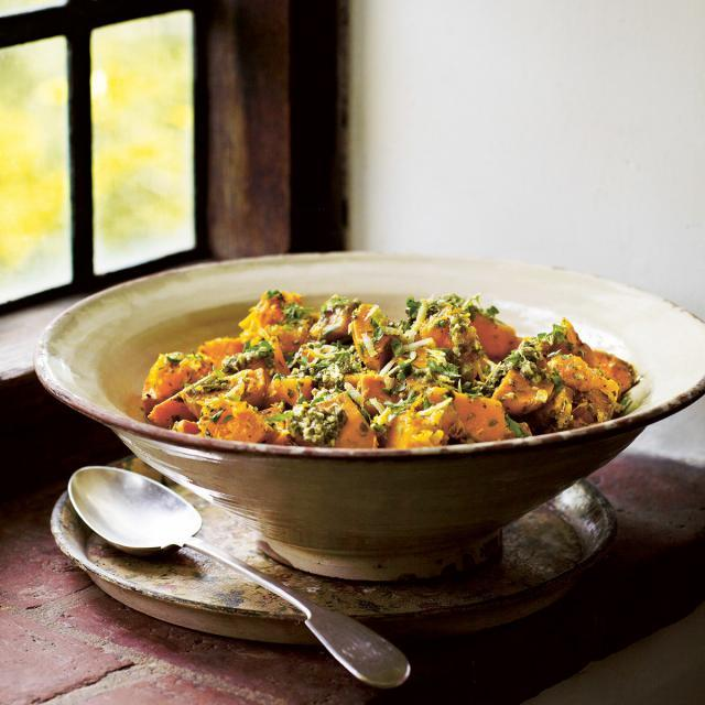 Rezept von Aaron Bertelsen: Kürbis-Kumara-Salat