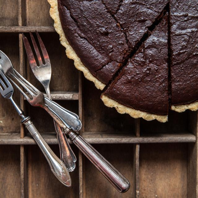 Rezept von Melissa Forti: Tarte mit Schokolade & Esskastanien