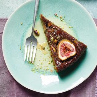 Rezept von Joudie Kalla: Freekeh-Feigen-Kuchen mit Pistazien