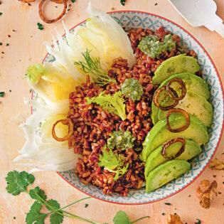 Rezept von Gabriele Gugetzer: Avocado-Bowl