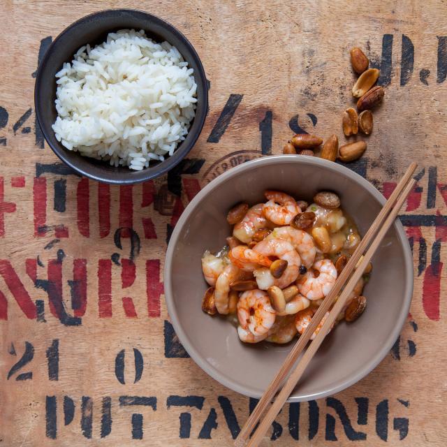 Rezept von Kei Lum & Diora Fong Chan: Garnelen nach Gongbao-Art