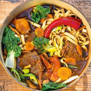 Rezept von Heike & Stefan Leistner: Taiwanesische Rindfleisch-Nudelsuppe