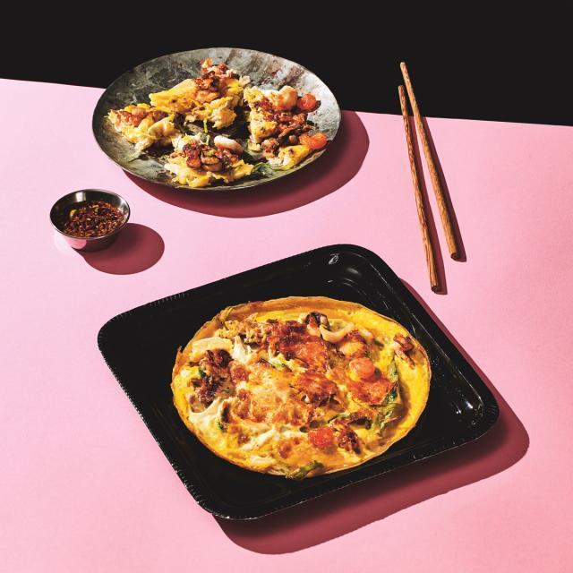 Rezept von Young-Mi Park-Snowden: Meeresfrüchte-Pfannkuchen – Pajeon