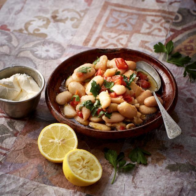 Rezept von Malakeh Jazmati: Bohnen-Tomaten-Salat