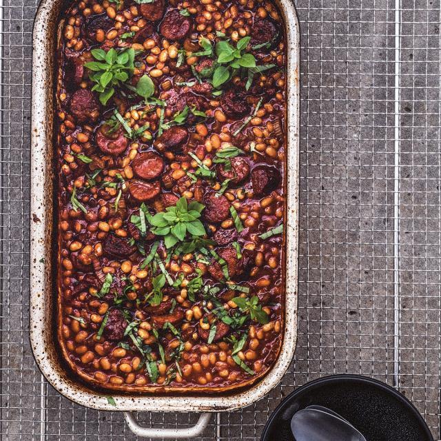 Rezept von Daniel Schimkowitsch: Cassoulet mit Chorizo & Basilikum