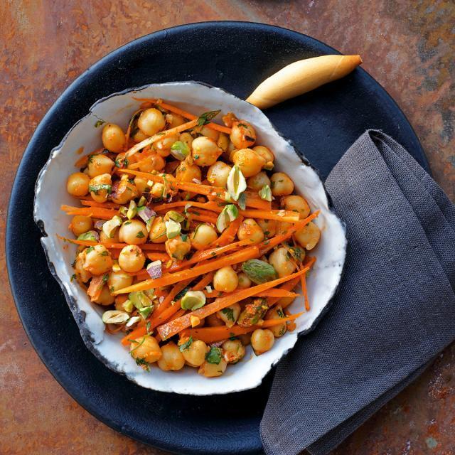 Rezept von Margit Kunzke: Kichererbsensalat mit Karotten & Pistazien