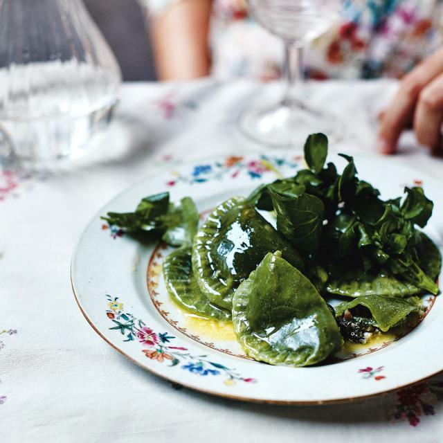 Rezept von Zuza Zak: Frühlings-Pierogi mit Spinat