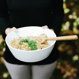 Rezept von Nathan & Katie Williams: Zitrus-Linsen-Salat