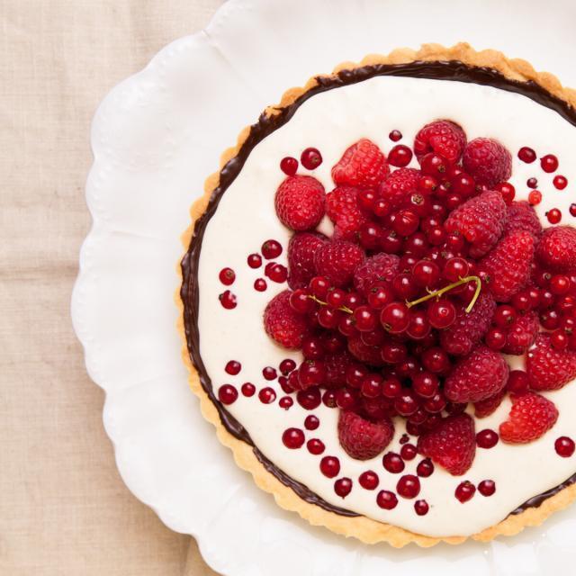 Rezept von Trine Hahnemann: Himbeer-Johannisbeer-Torte