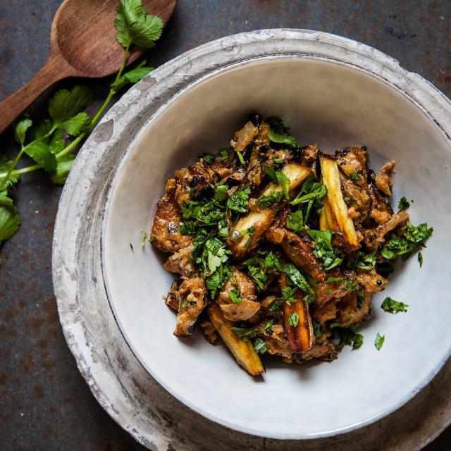 Rezept von Chetna Makan: Auberginen-Curry