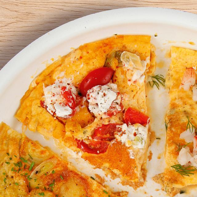 Rezept von Michael König: Omelette mit Kirschtomaten und Ziegenkäse