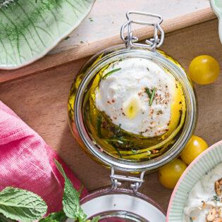 Rezept von Tanja Dusy: Marinierter Kräuter-Zitronen-Mozzarella