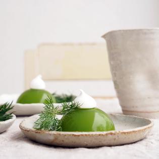 Rezept von Simone Wille: Cucumber Jelly mit Dillsoße
