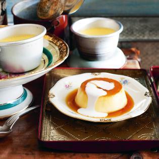 Rezept von Tessa Kiros: Crème Caramel mit Zitronengras