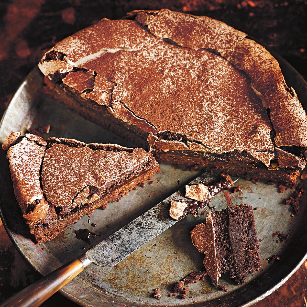 Rezept von Donna Hay: Schoko-Meringue-Kuchen • Valentinas-Kochbuch.de