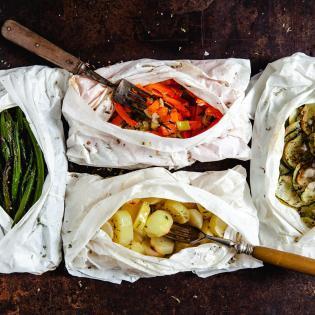 Rezept von Katie & Giancarlo Caldesi: Gemüsepäckchen