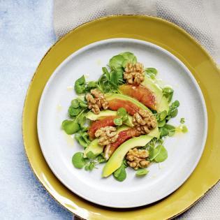 Rezept von Eva Derndorfer & Elisabeth Fischer: Brunnenkressesalat mit Avocado