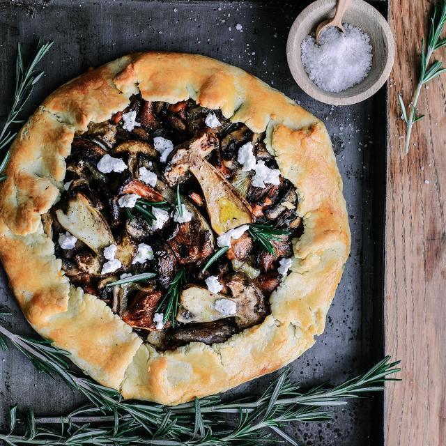 Rezept von Émilie Franzo: Pilze mit Ziegenkäse