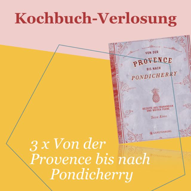Kochbuch-Verlosung im Juli: 3 x  Von der Provence bis nach Pondicherry