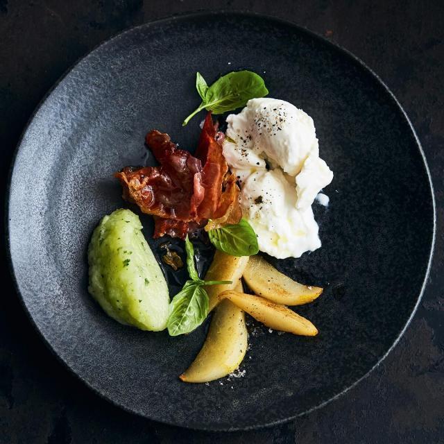 Rezept von Adam Koor: Birne / Prosciutto di Parma / Mozzarella