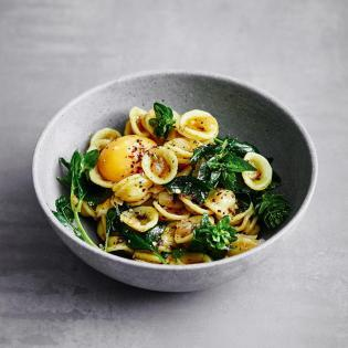 Rezept von Adam Koor: Spinat / Pasta / Ei