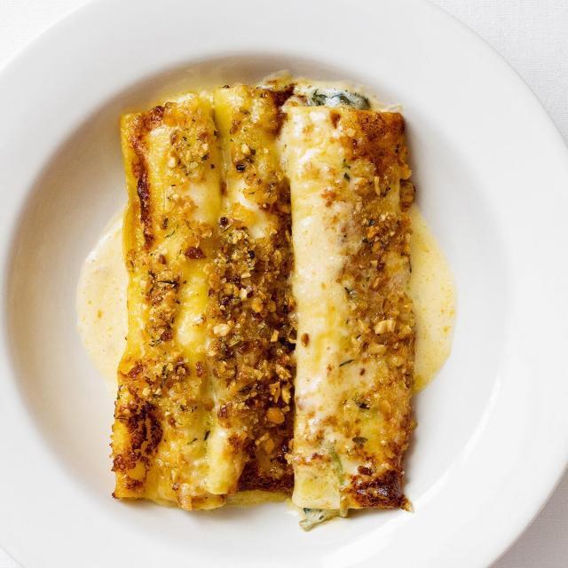 Rezept von Anna Pearson: Cannelloni mit Ricotta-Spinat-Füllung