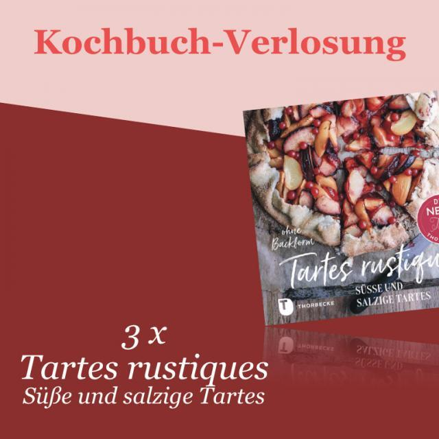 Kochbuch-Verlosung im September: 3 x Tartes rustiques