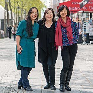 Kochbuchautorinnen Chihiro Masui, Minh-Tâm Trân & Margot Zhang
