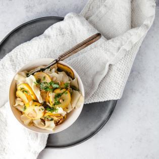 Rezept von Jacob Kenedy: Insalata di Farfalle, Zucchini e Pinoli