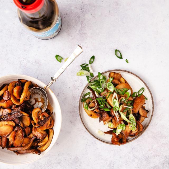 Rezept von Tanja Dusy: Yaki Kinoko – Gebratene Pilze