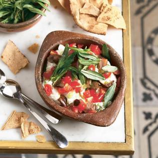 Rezept von Liza & Ziad Asseily: Labneh mit Tomaten