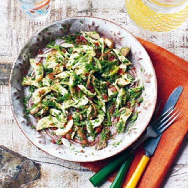 Rezept von Felipe Fuentes Cruz & Ben Fordham: Ceviche mit Kräuterseitling