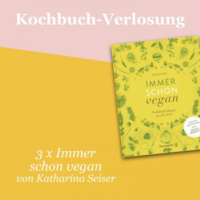 Kochbuch-Verlosung im November: 3 x Immer schon vegan