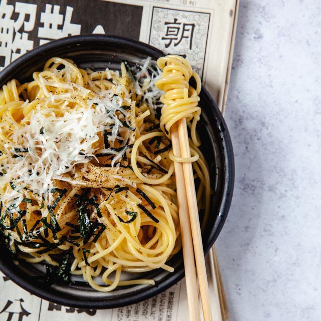 Rezept von Chihiro Masui: Spaghetti mit Nori und Parmesan
